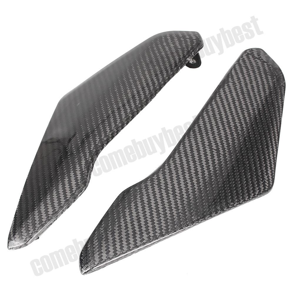 2 pcs carbon fiber tank side cover panels fairing for suzuki gsxr600 gsxr750 2004 2005 motorcycle