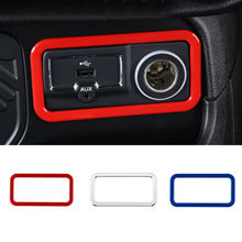 For Jeep Renegade 2015 2016 2017 New Car Styling Car Cigarette Lighter Decoration Frame Trim Sticker AUX USB Trims Cover