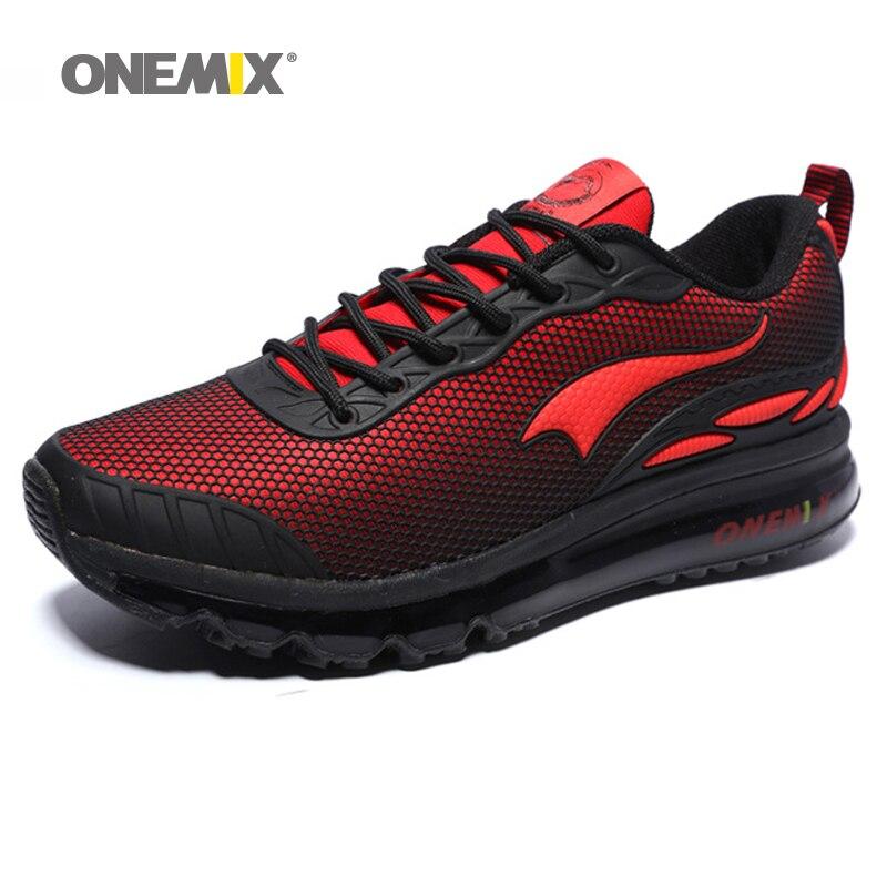 ONEMIX homme chaussures de course taille Max 12 belles tendances courir maille respirant hommes Jogging chaussure Sport pour extérieur marche baskets coussin - 2