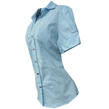Women's Shirt Business attire Short sleeves Blusa Summer cotton Blusas mujer Women Top Blouse Plus size Camisa Feminina Blouse