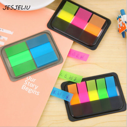 купить 1 pc Markers Sticky Notes Pad Fluorescence Color Stick Markers Book Page Index Flag Sticky Notes Post It онлайн