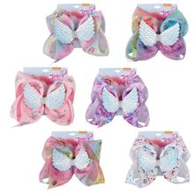 New jojos 8 inch childrens bow diamond wings unicorn hairpin hair accessories best holiday gifts