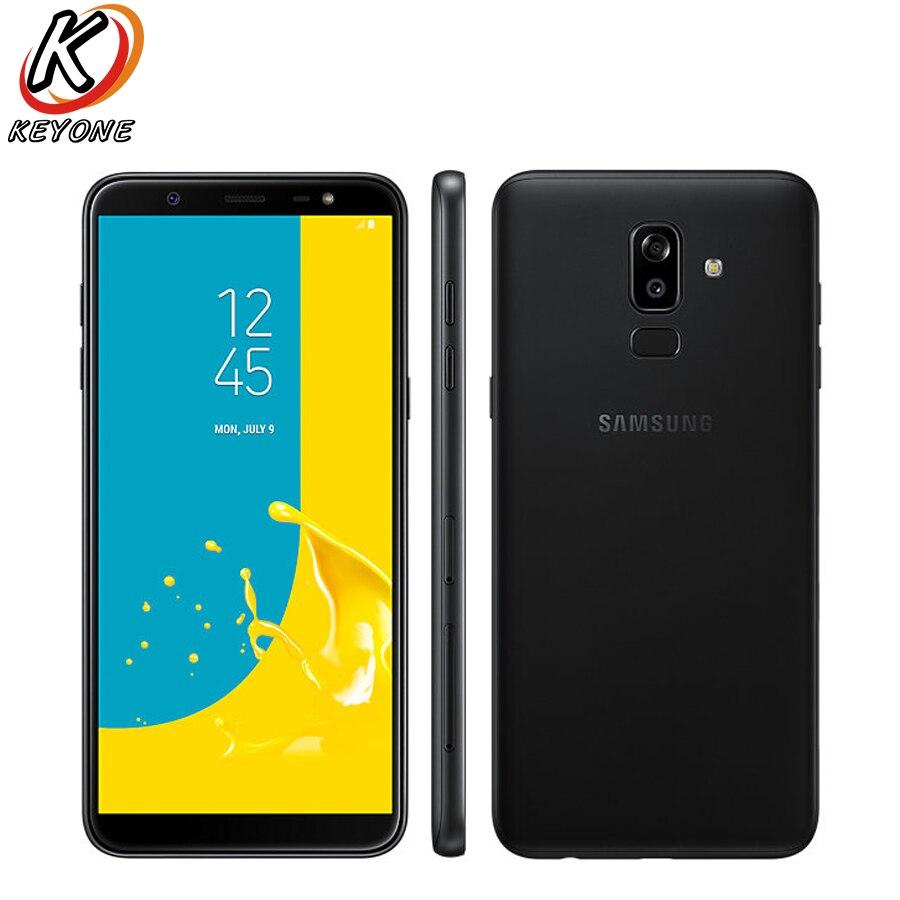 Nuevo Samsung Galaxy J8 J810F-DS teléfono móvil 6,0 pulgadas 4 GB RAM 64 GB ROM Octa Core Dual trasera cámara Android huella dactilar teléfono