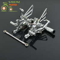 CNC Adjustable Motorcycle Billet Foot Pegs Pedals Rest For YAMAHA R1 2004 2006 2004 2005 2006