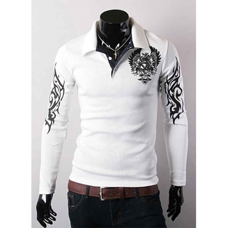 Zogaa Hot Sale Casual Print Solid Anti-shrink Long Sleeve Shirt White New Men's Fashion Slim Lapels Long Sleeved Shirt Cotton