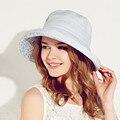 Kenmont Лето Cap Большой Брим Пляж Оптовая Шляпы для Женщин Женский Складной Хлопок Белье Мода Вс Hat Chapeu 3075