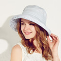 Kenmont Summer Cap Big Brim Beach Wholesale Hats for Women Female Foldable Cotton Linen Fashion Sun Hat Chapeu 3075