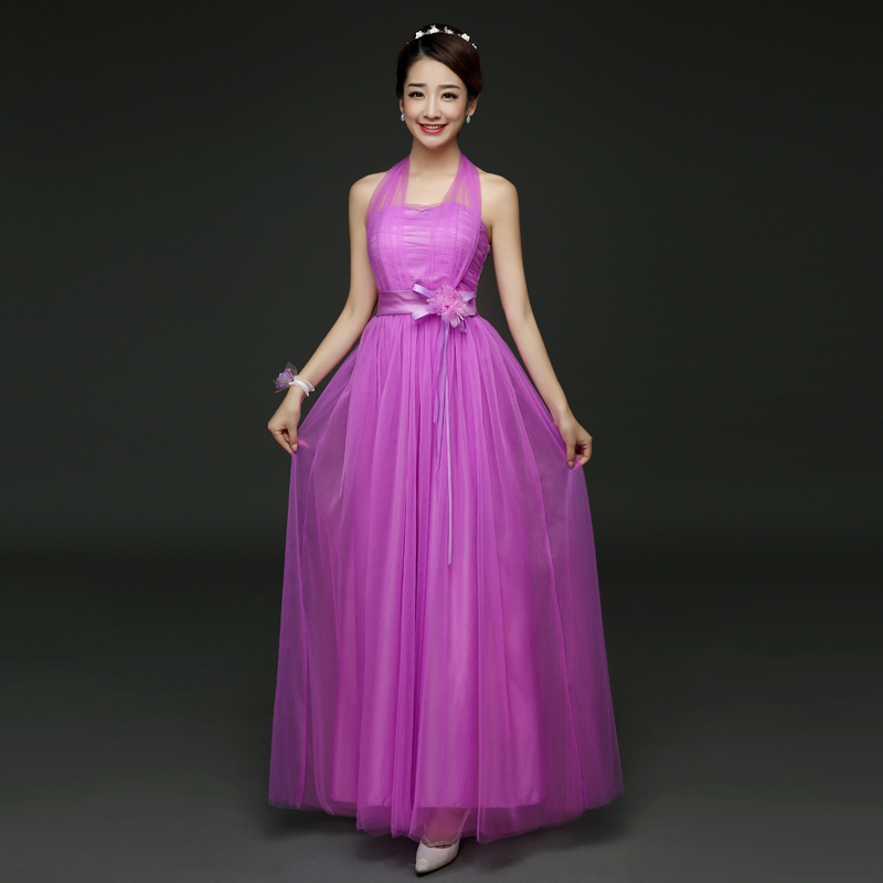 Summer Formal Clothes for Teenage Girls Long-party-dresses-prom-gown Chiffon Halter Evening Party Maxi Dress Bridesmaid long criss cross open back formal party dress