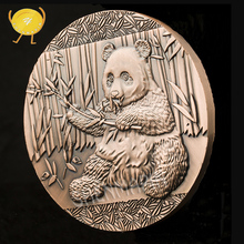 Chinese National Treasure Panda Commemorative Coin China Culture Memorial Museum Coins Collectibles Red Copper Art