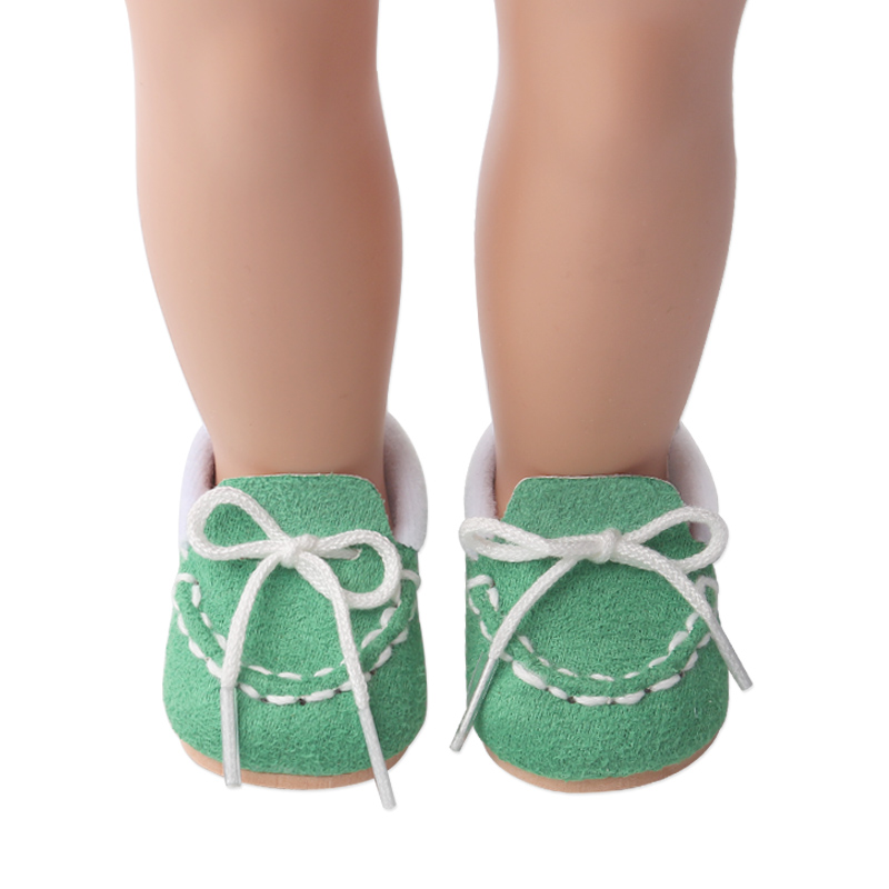 18 inch Girls doll shoes Lovely baby canvas shoes American new born accessories Baby toys fit 43 cm baby s220 in Dolls Accessories from Toys Hobbies