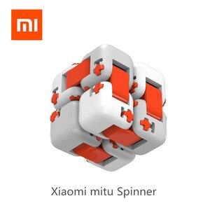 Image 1 - Mới Xiaomi Mitu Cube Spinner Ngón Tay Gạch Trí Thông Minh Đồ Chơi Thông Minh Ngón Tay Đồ Chơi Di Động Cho Xiaomi nhà thông minh Tặng cho Bé