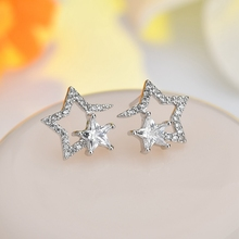 Elegant Romantic Five-Pointed Star AAA Zircon Earrings For Women Jewelry