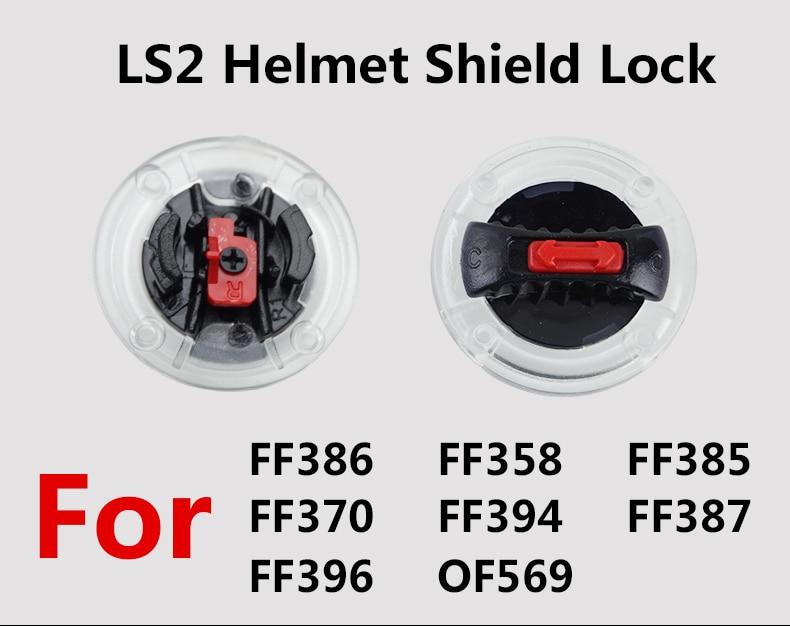 LS2 FF386 FF358 FF385 FF370 FF396 Helm Schild Schrauben Helm Visier Objekt Lock
