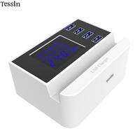 TESSIN Multi Port USB Charger LCD Show Smart Charge 2 4A For IPhone 5S SE 6