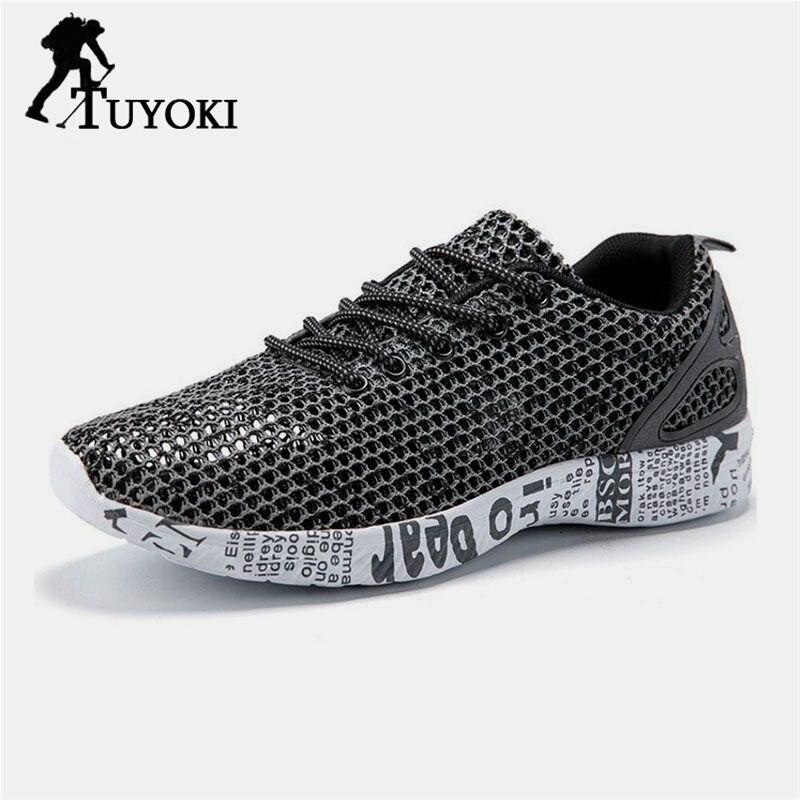 Tuyoki hommes chaussures de randonnée chaussures à séchage rapide baskets mode chaussures de sport hommes amorti respirant maille léger taille 39-46