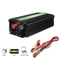 Small Size 1000W Pure Sine Wave Modified Power Inverter DC 12V To 220V Camping Boat Caravan