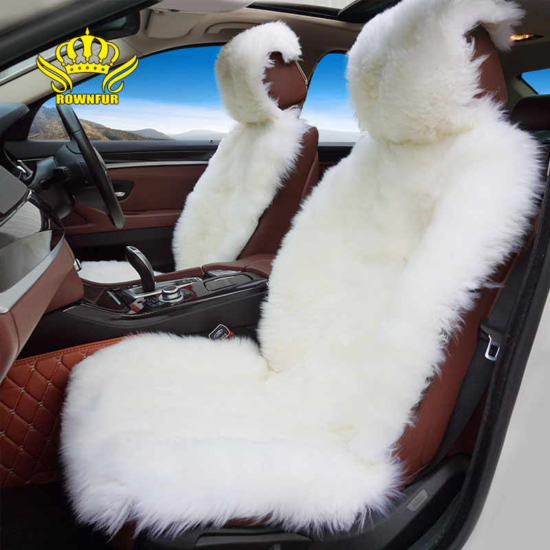 Rownfur 100% Natural fur Australian sheepskin car seat covers universal size for seat cover accessories automobiles 2016 D001-B