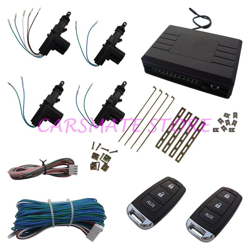 Télécommande universelle De Voiture Système De Verrouillage Central avec AUX 3 Boutons Télécommandes À Distance de Verrouillage/Déverrouillage/Coffre Carsmate