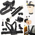 Monopod Mount Accessories Head Chest Wrist Strap Kits for Sony Action Cam HDR-AS15 AS20V AS30V AS100V AS200V FDR-X1000V