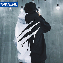 THE NLMU Dropshipping Hoodies Sweatshirts Men Women Color Block Patchwork Hooded