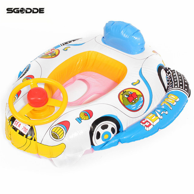 PVC Baby Float Swimming Ring Inflatable Car Steering Wheel Seat ...