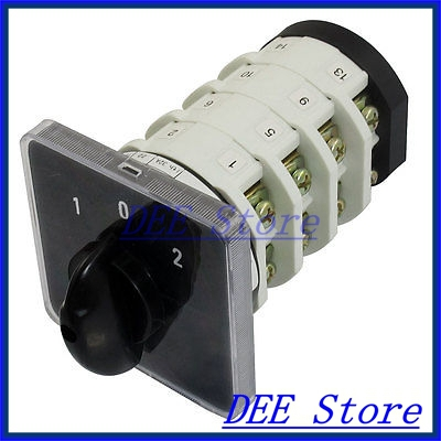 32A ON/OFF/On 16 Terminals Rotary Contarol Cam Universal Combination Switch uxcell universal 8 terminals 5 postions master control rotary cam switch 20a