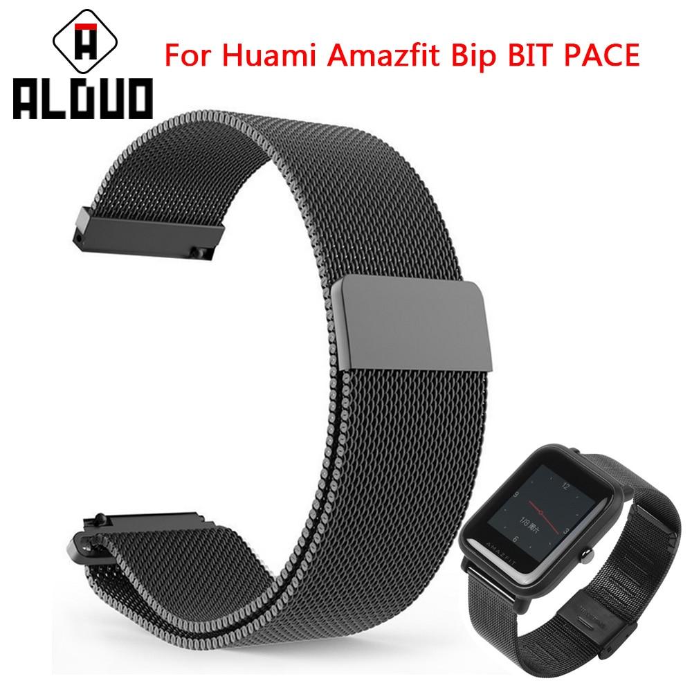Xiaomi Huami Amazfit poco correa de Metal correas de acero inoxidable pulsera de reemplazo para Huami Amazfit Bip poco ritmo Lite juventud reloj