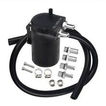 Круглый алюминиевый Универсальный Масляный бак может топливный автомобиль легкосплавные диски резервуар масляный бак черный 4 цвета