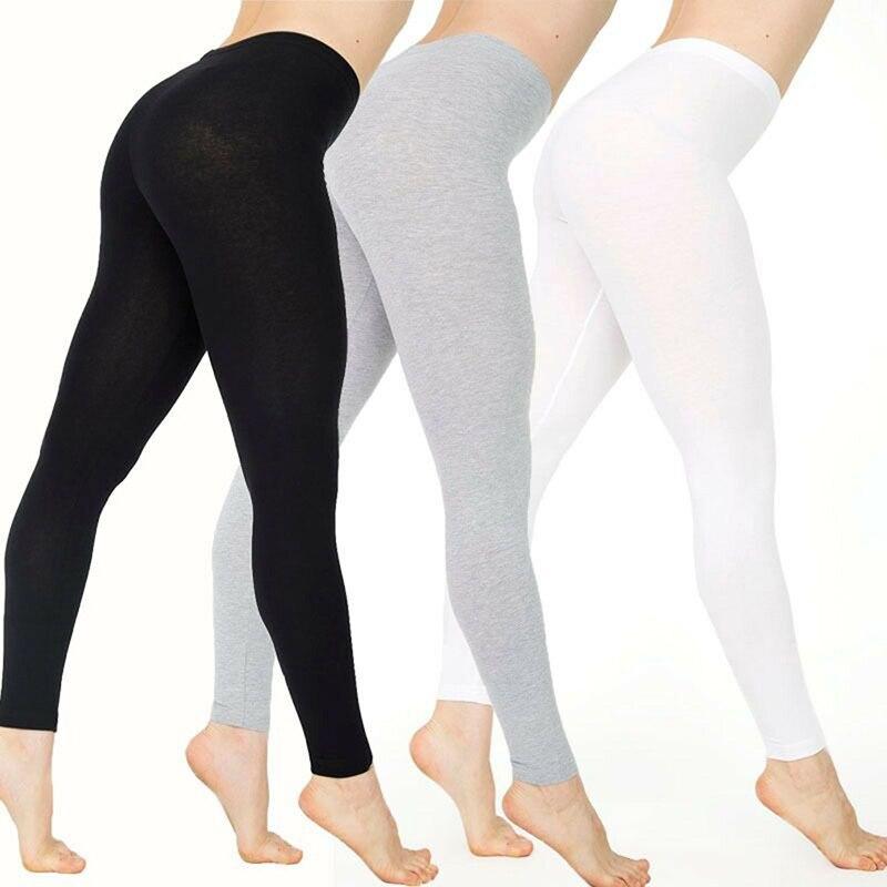 elastic Fitness Leggings Women Fashion Low Waist Workout Polyester Leggings Jeggings Slim casual Leggings