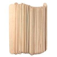 100Pcs 6 Inch Wooden Waxing Wax Spatula Tongue Depressor Disposable Bamboo Sticks Tattoo Wax Medical Stick