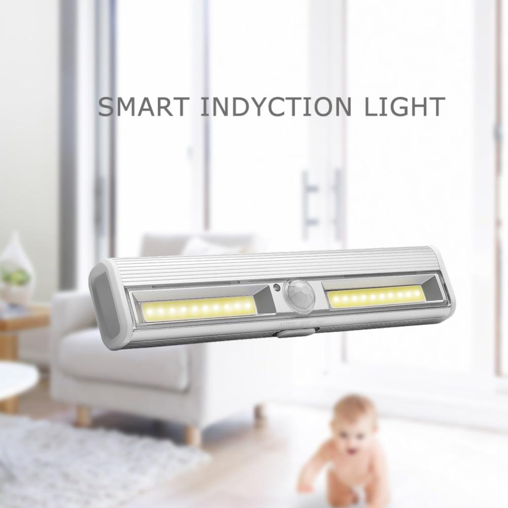 PANYUE 10 stücke LED Unter Kabinett Licht Motion Sensor Lampe beleuchtung für Schrank Schrank Schrank Küche nacht licht magnet - 3