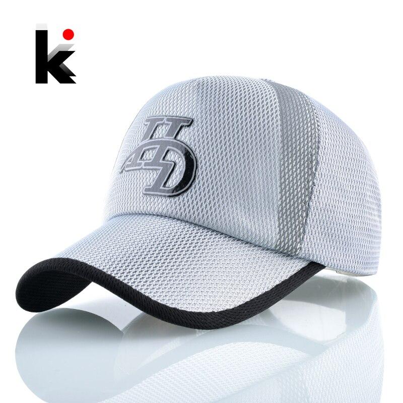 Summer   Baseball     Cap   Men Solid Letter Snapback Hats Breathable Mesh Sport Bone Women Outdoor Visor Gorras Running Casquette Homme