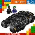 1869 unids decool 7111 dc el vaso joker batman superman bloques de construcción modelo niños juguetes de los ladrillos compatible con lego