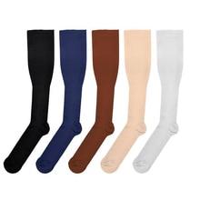 ホット販売圧縮靴下用男性女性靴下看護師のため医療卒業看護トラベル圧力循環抗fatigu靴下