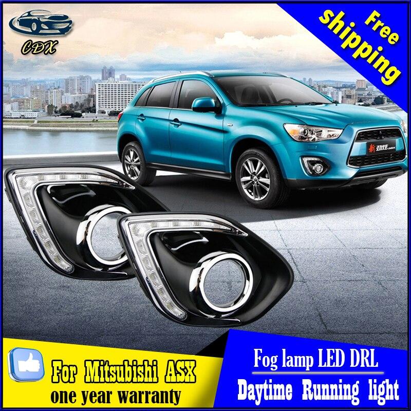 Car Styling DRL for Mitsubishi ASX 2013-2015 Daytime Running Light 9 LED Modified Fog Light Lamp car styling asx taillight 2013 2015 free ship 4pcs asx fog light chrome asx tail lamp jimny car detector asx