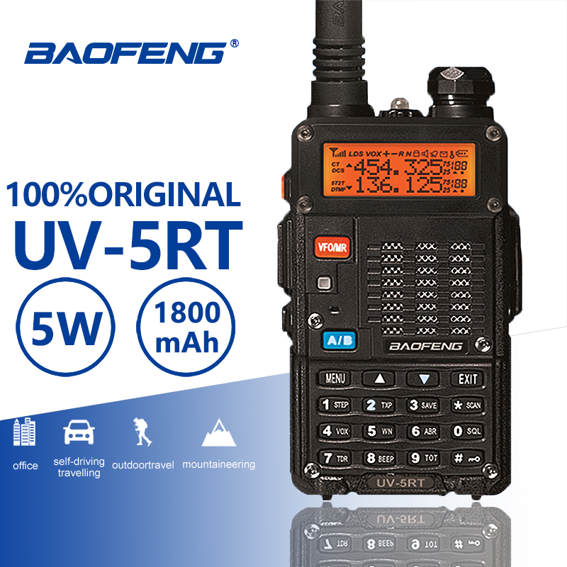 Baofeng UV 5RT Hunting Walkie Talke Security Guard UV 5RT Interphone Advanced Amateur Baofeng UV 5R CB Radio Station UV5R Telsiz