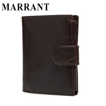 MARRANT Genuine Leather Wallets with Coin Zipper Pocket Brand Men Wallets Clutch Short Card Holder Purse Leather Purse Wallet