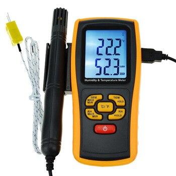 LCD Digital Humidity and Temperature Meter Gauge Type K Thermocouple Sensor Probe 2-in-1 Measurement Thermometer -10degC~50 degC