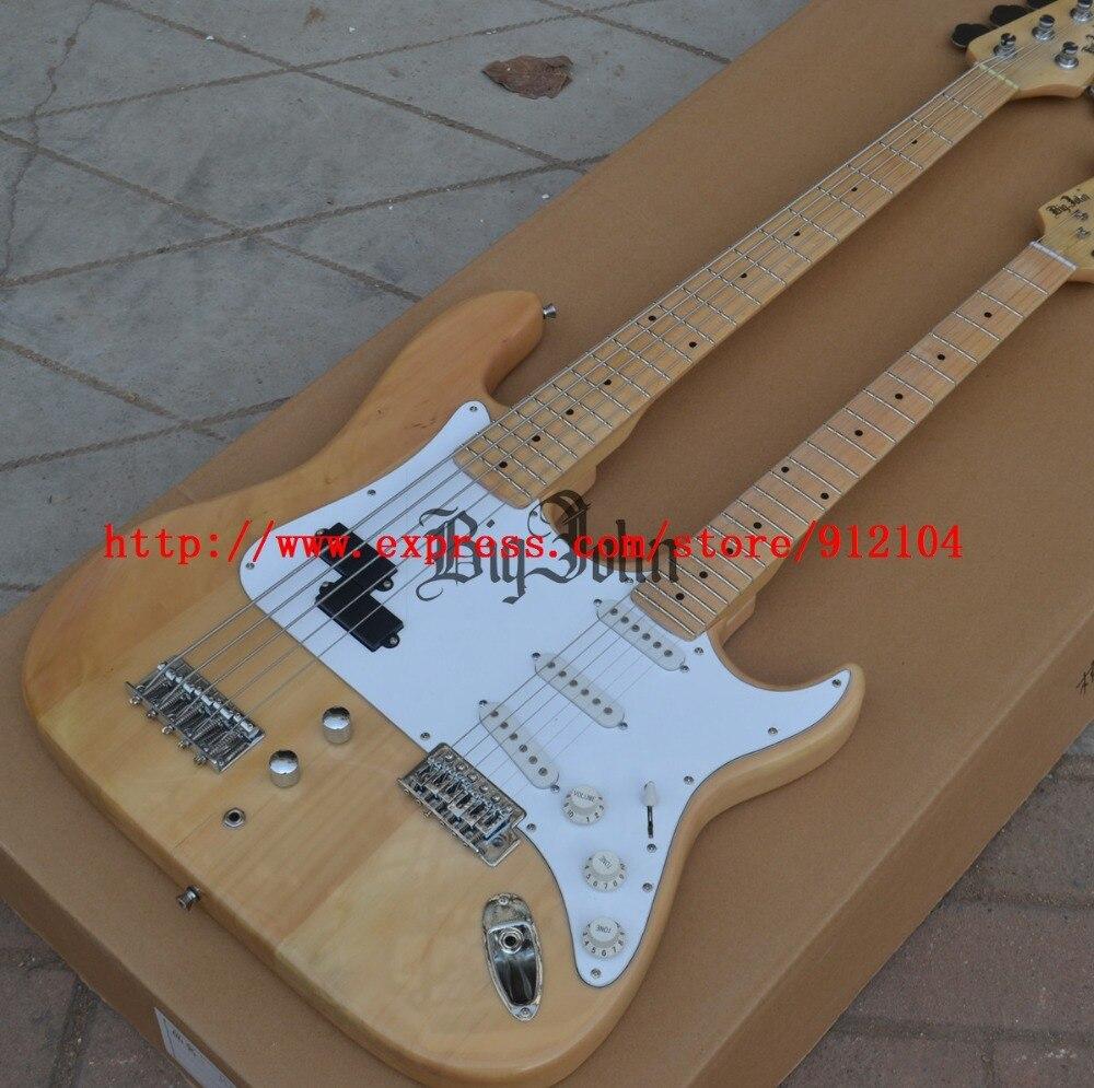 Nouveau Big John Double cou 5 cordes basse électrique avec 6 cordes guitare avec corps en tilleul livraison gratuite bJ-130