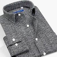 Smart Five men shirts 100 cotton long sleeve regular Slim Fit Dress Shirts 2017 New Big Size 5XL 6XL