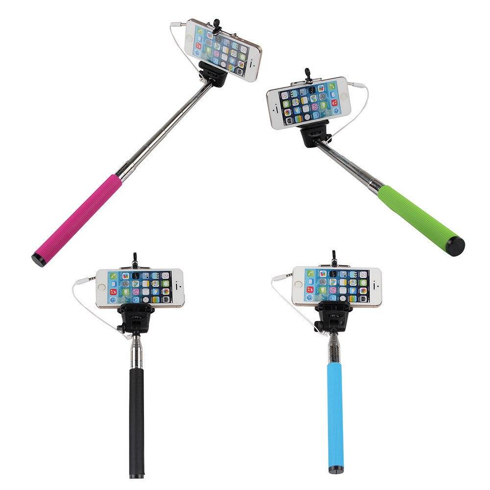 Extendable Folding Wired Selfie Stick Monopod For Samsung GalaxY s5 Perche Selfies Selfiepod for Iphone 5 Xiaomi Blackberry