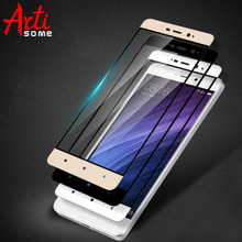 2.5D Curved Xiaomi Redmi 4 Pro Tempered Glass Screen Protectors Premium Full Cover Protection Glass Protective Film ARTISOME