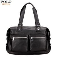 VICUNA POLO Casual Large Size Men Travel Bags Famous Brand Leather Men Travel Handbags Duffle Bag
