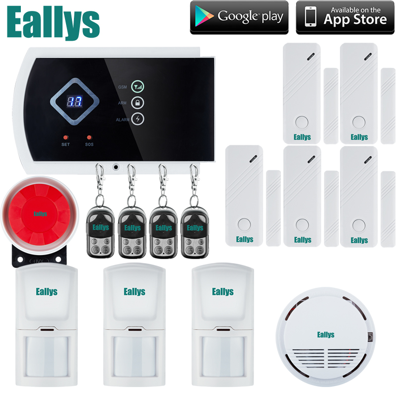 Touch keypad ANDROID APP Wireless Wired GSM Alarm System Telephone Security System Smoke Detector creative book shaped wired telephone deep blue