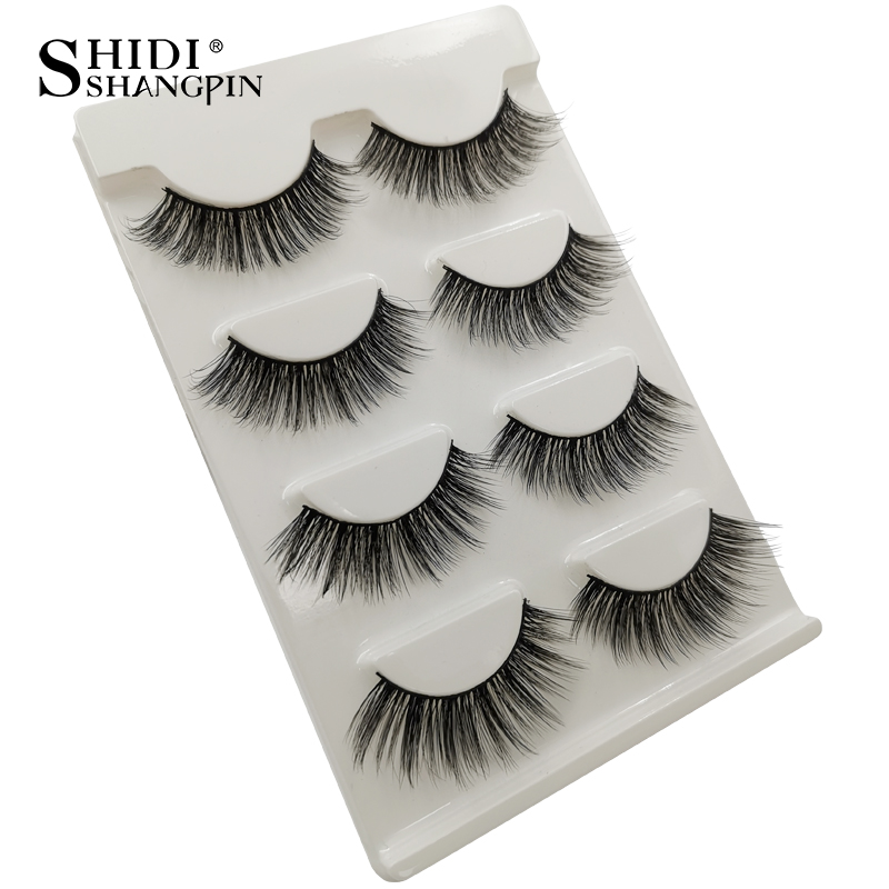 HTB1mJsvaUzrK1RjSspmq6AOdFXaj Natrual long 3D Mink False Eyelashes wholesale 4 pairs Fluffy Make up Full Strip Lashes 3D Mink Lashes faux cils Soft Maquiagem