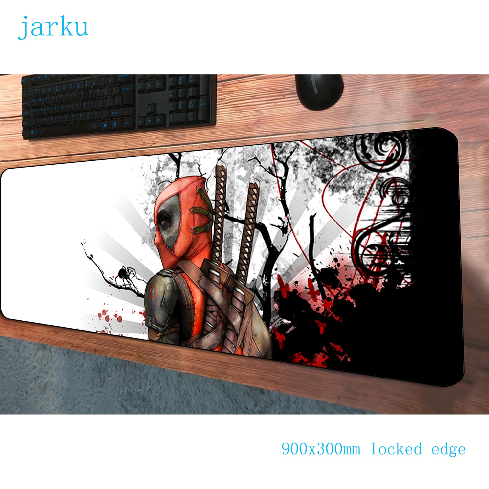 900x300x3mm Deadpool Mousepad Thick Gaming Mouse Pad Gamer Mouse Mat Pads Game Computer New Arrival Padmouse Laptop Play Mats