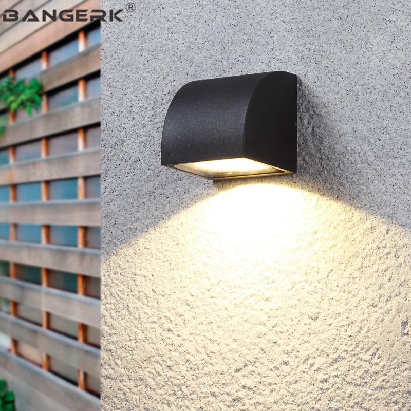 Creative Waterproof Wall Lamps Outdoor LED Porch Lights Antirust Modern Wall Sconce Lamp Garden Courtyard Aluminum Lighting