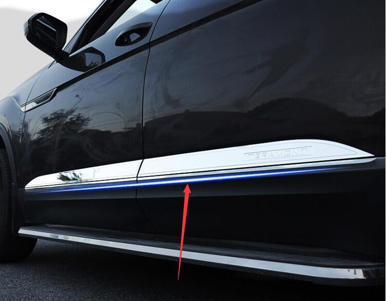 Décoration de porte latérale de moulures latérales de carrosserie d'acier inoxydable pour Volkswagen Teramont