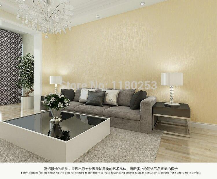 Décoration argent gaufré rayé papier peint rouleau Non tissé papier peint décor pour salon papel de parede 3d 53*1000 cm - 2