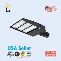 2 упак. светодиодные лампы shoebox SMD3030 5 лет гарантии светодиодные лампы сад Ip65 наружного освещения уличный фонарь 150 Вт 240 вт 300 Вт области огни